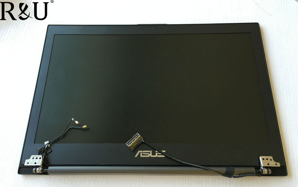 R&U test good lcd screen display with touch screen digitizer assembly with frame For ASUS notebook B400A