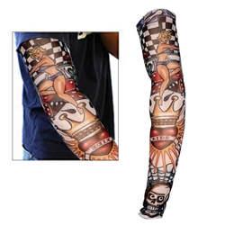 2 предмета Новый нейлон Эластичный фальшивая, временная тату рукава конструкции боди-арт Чулки татуировки для прохладной Для мужчин Для