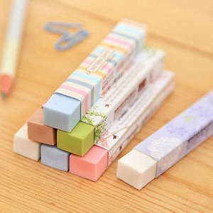 Kawaii Eraser Correction-Products Stationery School-Supplies Pencial Cute Cube 1pcs