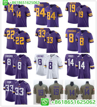 a9fa21cd7 Sewn Mens Minnesota Kirk Cousins Adam Thielen Harrison Smith Stefon Diggs  Dalvin Cook Randy Moss Anthony Barr football jerseys