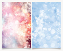 Big Size 60X90CM 3D Printing double sides Fireworks and Water Bubble Background For Photo Studio