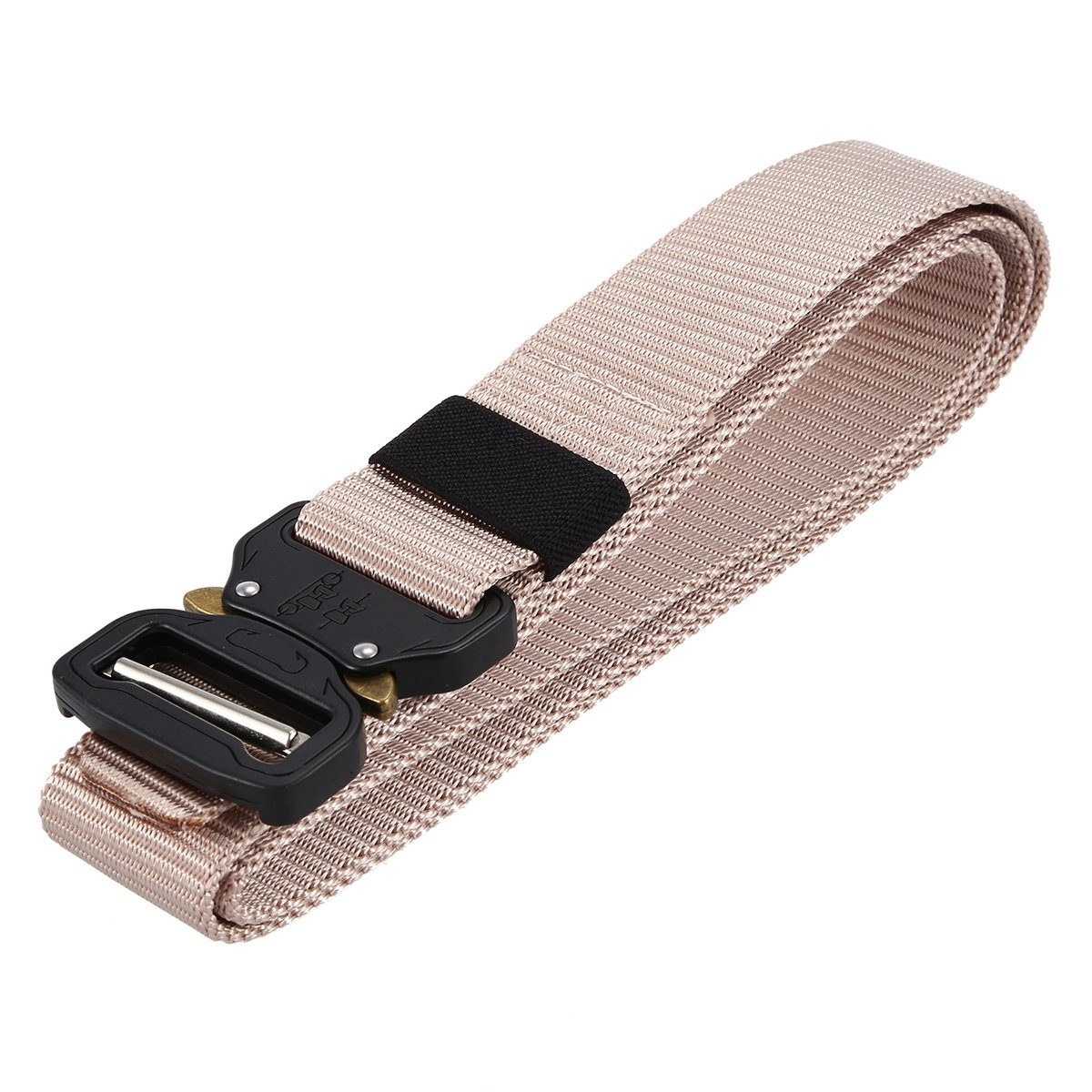 Tactical Belt Military Style Webbing Riggers Web Belt with Heavy-Duty Quick-Release Metal Buckle (1.5 Inch Wide