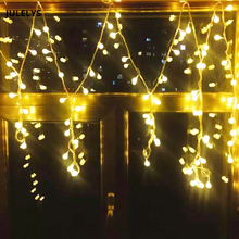 Battery operated Christmas Garland Ball LED String Lights Fairy Decorative LED Lights Decoration For Wedding Holiday Party 20 rattan ball lights battery operated christmas garland lights ac plug led holiday string fairy lights guirlande gerlyanda
