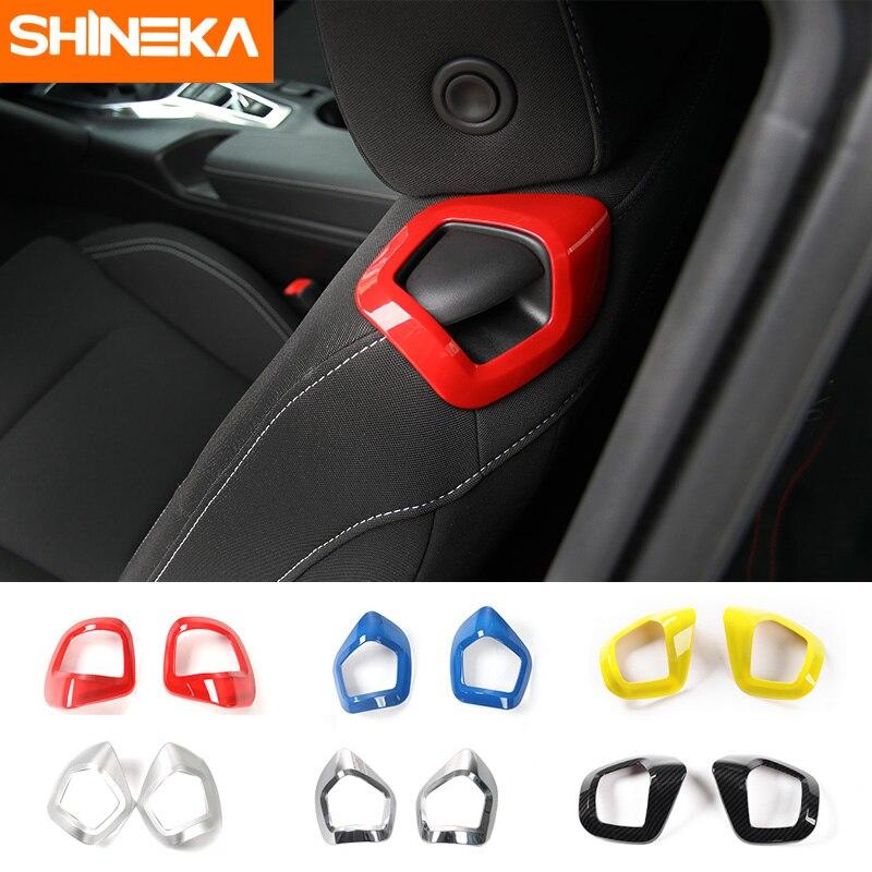 SHINEKA siège dossier manuel siège réglage poignée couverture garniture voiture décoration intérieure pour Camaro 2017 +