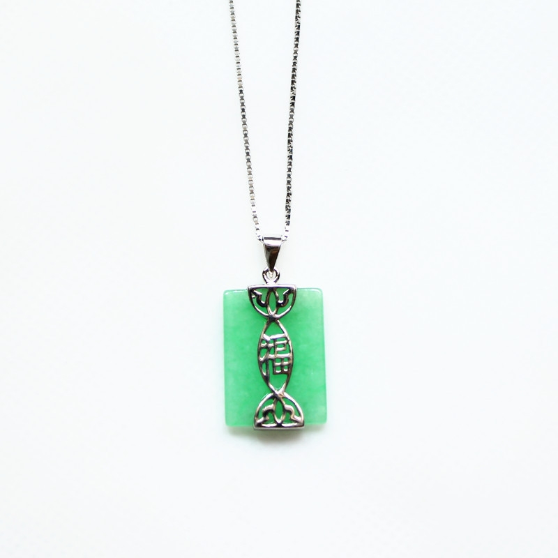 Unique chinese element jade necklaces pendants 925 sterling silver unique chinese element jade necklaces pendants 925 sterling silver jewelry lucky meaning pendent necklace for women girls in necklaces pendants from aloadofball Image collections