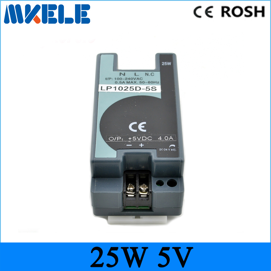2018 Free Shipping 25w 5V 5A Din Rail Switching Power Supply mini size ac-dc LP-25-5 dc power supply for led driver 25w 5v 5a switching power supply dc15v power supply