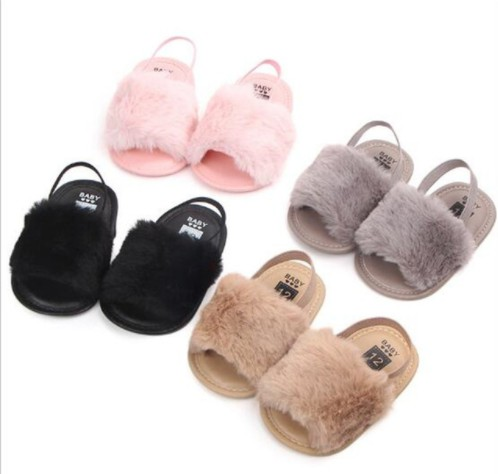 Fashion Summer Baby Shoes Infant Girls Princess Shoes First Walkers Baby Shoes Winter Kids Slippers
