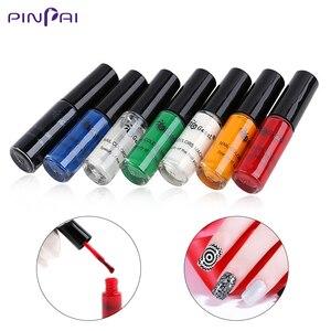 7 бутылок/набор гель-лаков для стемпинга ногтей, маникюрный УФ-Гель-лак для самостоятельного маникюра, отмачиваемый лак для дизайна ногтей, ...