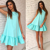 2017 Women S Vestidos Sexy Ruffles Dress Summer Sleeveless Casual A Line Bodycon Dress Women Party