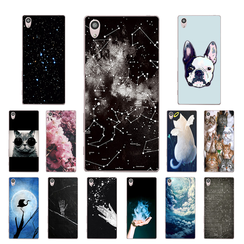 Soft TPU Case for Coque <font><b>Sony</b></font> Xperia Z5 Case Silicone Hand Printing Back Cover for <font><b>Sony</b></font> Z5 E6603 E6653 <font><b>E6633</b></font> E6683 Capa image