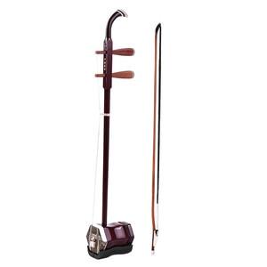 Image 2 - Erhu Solidwood Erhu סיני 2 מחרוזת כינור כינור כלי נגינה מיתר כהה קפה erhu סיני מכשיר קורדס erhu