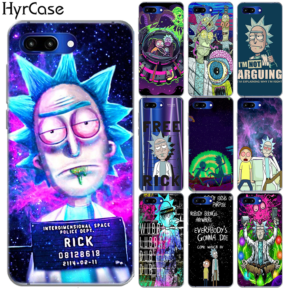 Rick And Morty Soft TPU <font><b>Case</b></font> Cover For <font><b>Huawei</b></font> Honor 9 10 20 Lite 10i 8X 8C 7A View 20 NOVA <font><b>5</b></font> 4 3 3I Y5 Prime Y3 Y7 2017 Y9 <font><b>2018</b></font> image