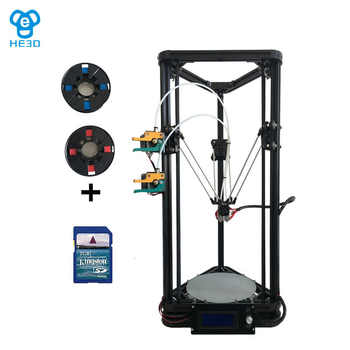 Newest K200 dual extruder delta DIY 3D printer, HE3D reprap , large printing size,400g filaments for gift - DISCOUNT ITEM  30% OFF All Category