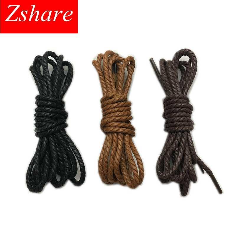 Yüksek kaliteli ayakabı su geçirmez deri ayakkabı danteller yuvarlak şekli ince halat beyaz siyah kahverengi haki 120CM uzunluk ayakabı P1