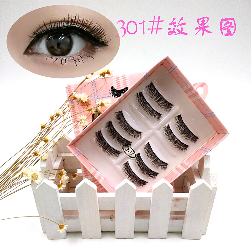YANYAXI 100% Hand Made Popular 5 Pairs Long Thick False Eyelashes Soft Fake Eye Lashes E ...