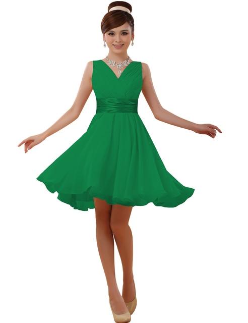 Vestidos en color verde cortos