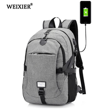 WEIXIER Hot New 2019 Good Oxford Youth Bag Backpack Mens Multi-Function USB Charging Male College Student