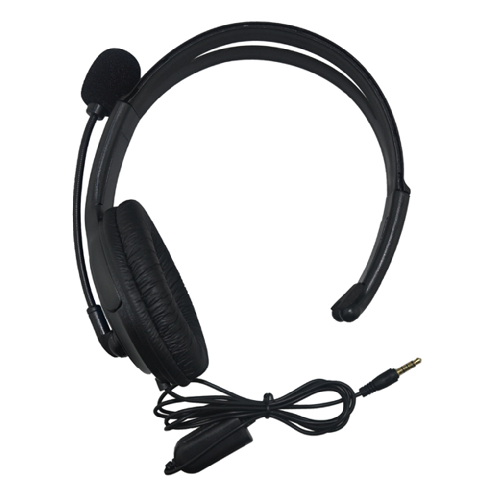 10PCS 3.5mm video gaming Wired Earphone Headband Portable Headphones Game Headset With Mic for PS4 for P4/PC Computer 3 5mm wired headphone game gaming headphones headset with microphone mic earphone for ps4 sony playstation 4 pc computer hot