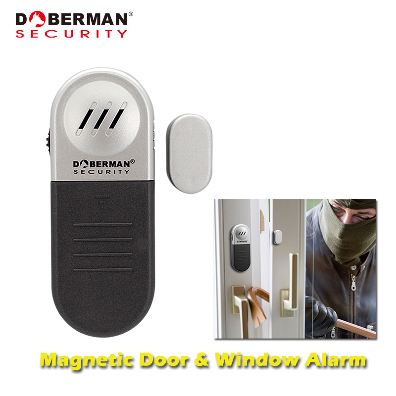 Doberman Security Magnetic Door Window Security Alarm Home Security Protection Alarm Sensor Detector 100dB Entry Defense Alarm