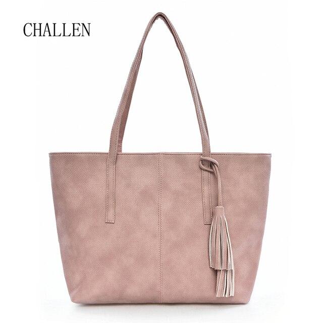 Pu Tassel Large Handbag Summer Bags European Brands Crossbody For Women Makeup Handbags