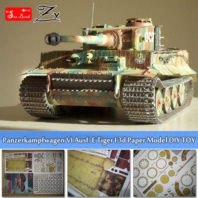 Scale 1:25 Panzerkampfwagen VI Ausf. E Tiger I Tank 3D