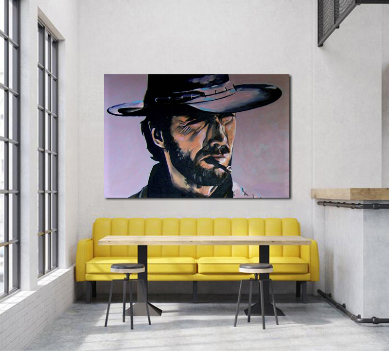 Clint Eastwood western cowboy style Living room home wall ...
