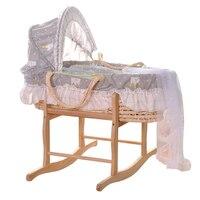 Высокое качество Экологичные детская кроватка Портативный новорожденных кровать детские кроватки кукурузы корки спальные корзины автомо