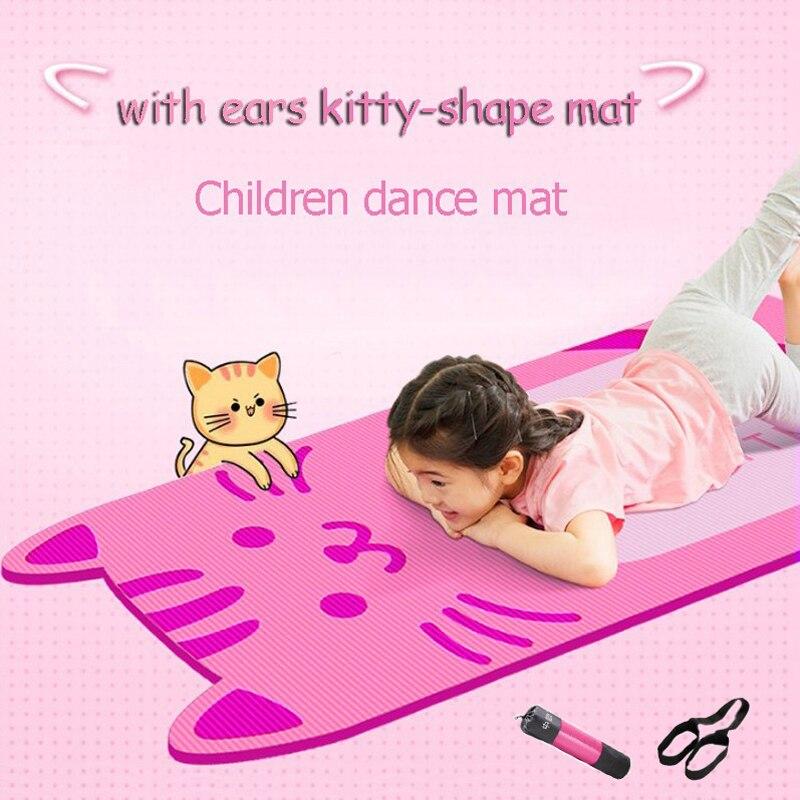 Cute Cartoon Cat shape Child Yoga Mat Kids Dance Mat