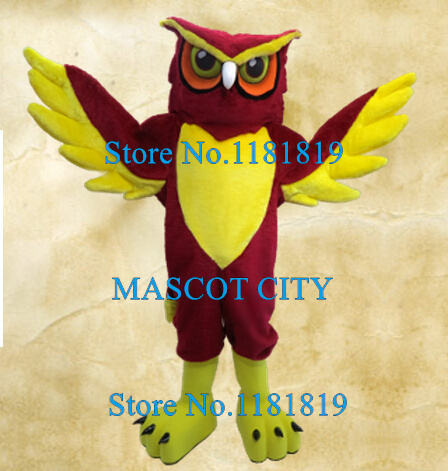Red Night Owl Mascot Costume Adult Cartoon Character HOOT THEME Anime Cosplay Costumes Mascotte Fancy Dress Kits for School