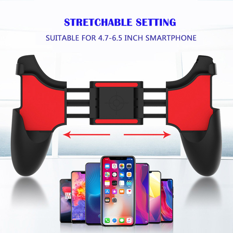 Image 2 - 2 in 1 Mobile Phone Game Controller For PUBG Mobile Trigger Gamepad Gaming  Fire /Aim Key Button L1R1 Shooter Joystick-in Gamepads from Consumer Electronics