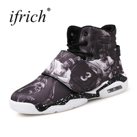 Ifrich Mens Basketball Sneakers Shockproof Basketball Shoes For Women Black Red Basketball Shoes Boys Leather Gym