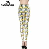 2016 New Design Wholesale Custom Bulk Retro Style Legins Yellow Flower Fitness Leggins Printed Women