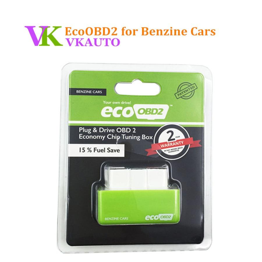 New EcoOBD2 Benzine Gasoline Cars Economy Chip Tuning Box Plug and Drive Eco OBD2 Interface 15% Fuel Save цена