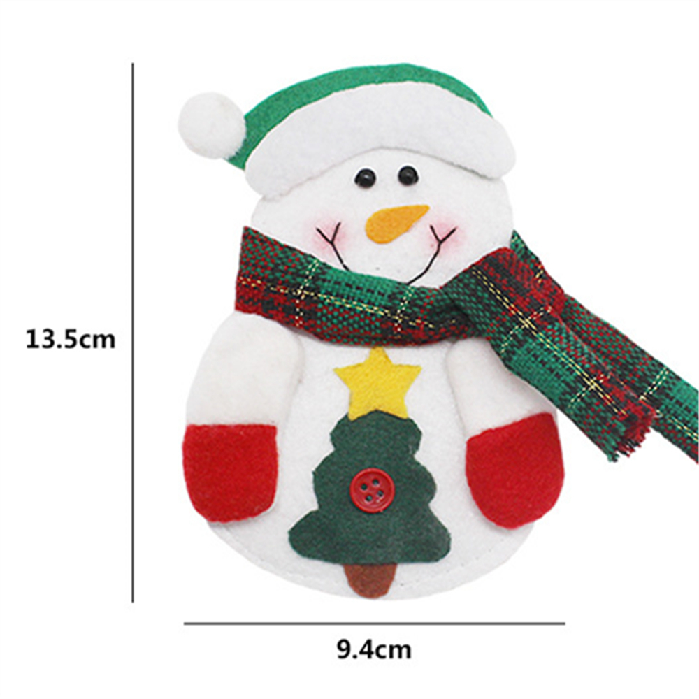 1Pcs Tableware bag Cute For Home Party Christmas Tree Holders Room Store Shop Festival Santa Claus Toppers Decoration Kids Gift