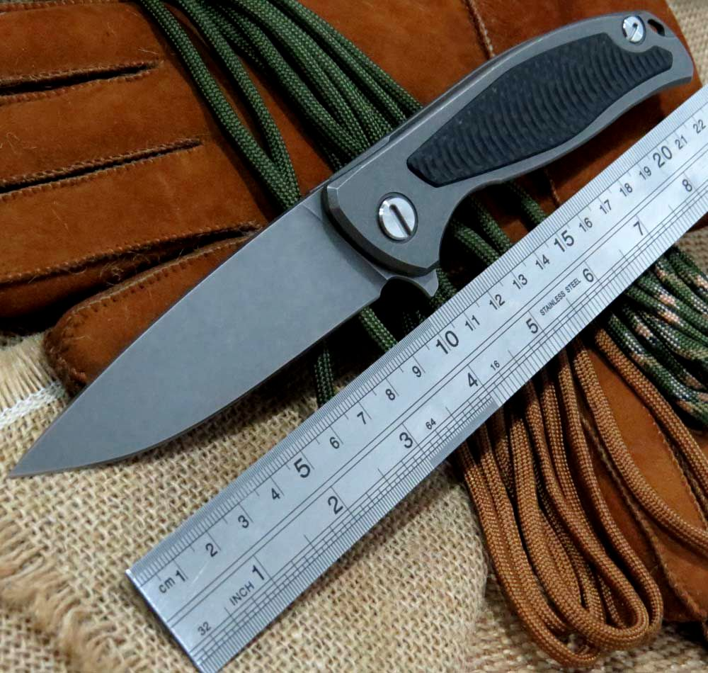 Selling Products Bear F95 Ball Bearing Flipper folding font b Knife b font D2 Blade Titanium