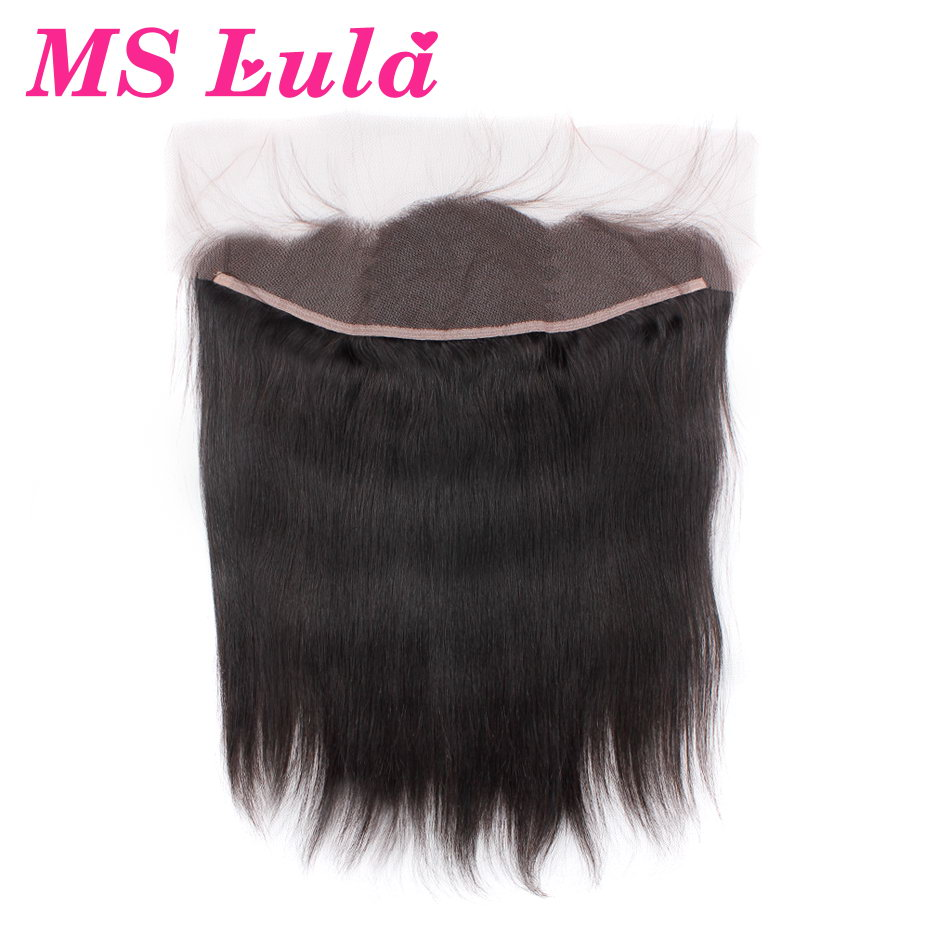 MS Lula Hair Pre Plucked Lace Frontal Closure with Baby Hair Brazilian Straight Hair 100 ...
