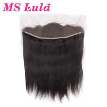 MS Lula Hair Pre Plucked Lace Frontal Closure with Baby Hair Brazilian Straight Hair 100% Human Hair Remy Hair Free Shipping