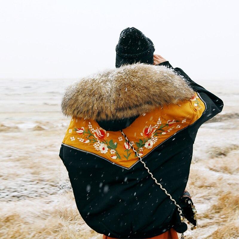 Real Magasin Chaud Conception Fourrure Big De Patchwork Occasionnel Hiver Femmes Manteau Broderie Lâche Court Laveur Vintage Mx Raton Jessica Fur Originale With rPrqBT