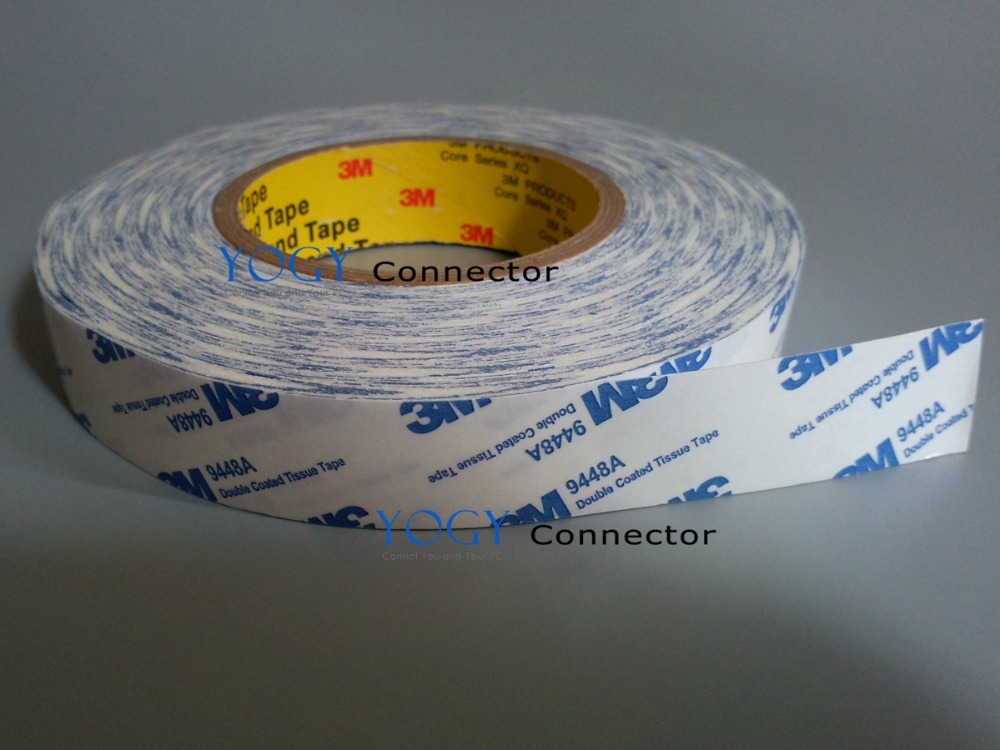 30mm width, 50 Meters, Double Coated Tissue White Tape for Plastic film , Nameplate, Screen, LCD Bond car pe masking film white 30 meters