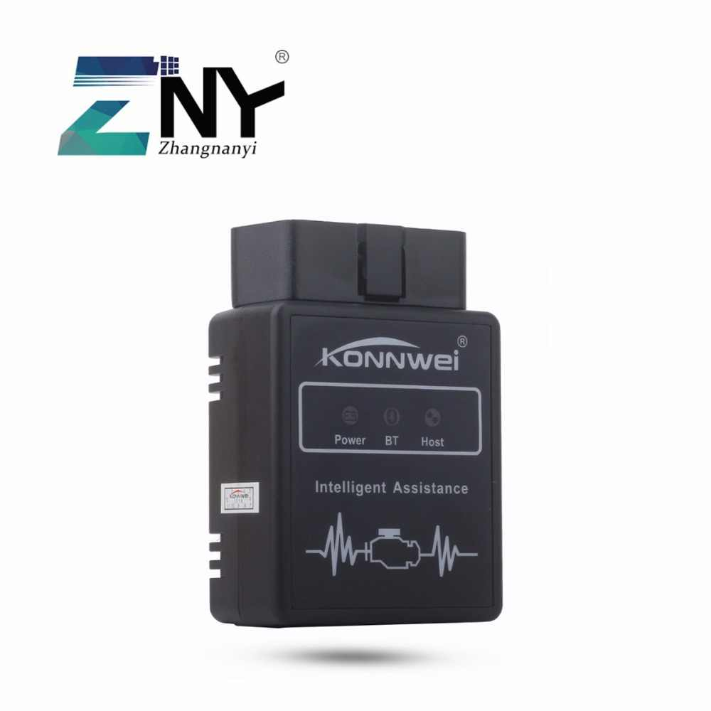 ZNY Externe Bluetooth OBD II Adapter Diagnostic Tool Auto Auto Interface Scanner Met Android Apparaten Voor Benzinemotor Alleen