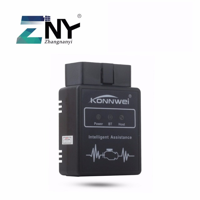 ZNY External Bluetooth OBD II Adapter Diagnostic Tool Car Auto Interface Scanner With Android Devices For Petrol Engine Only