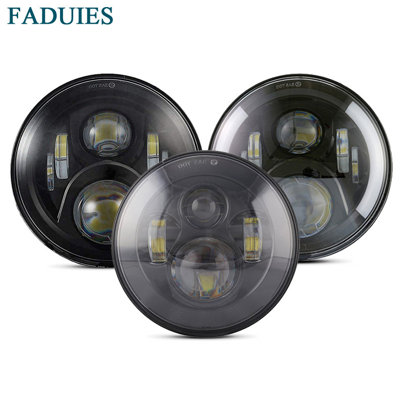 FADUIES 7 inch LED Headlight High Low Beam H4 Led Headlamp 12V For Jeep Wrangler TJ JK LJ unlimited 2000-2015 Harley MotorcycleFADUIES 7 inch LED Headlight High Low Beam H4 Led Headlamp 12V For Jeep Wrangler TJ JK LJ unlimited 2000-2015 Harley Motorcycle
