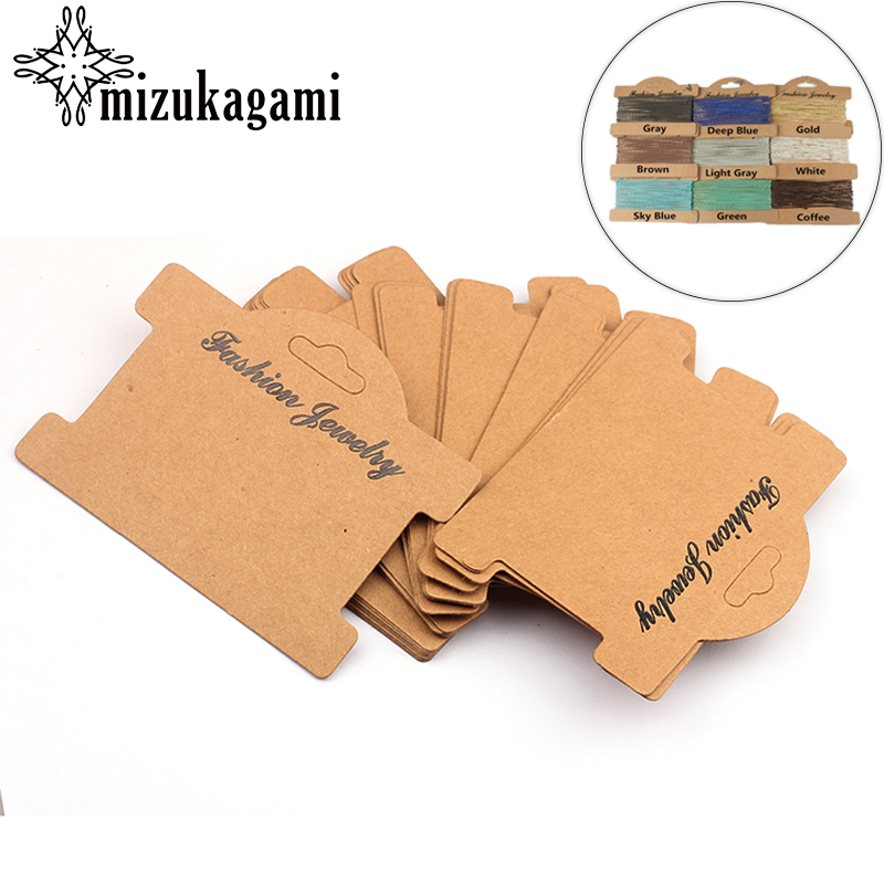 10pcs/lot Retro Brown Necklace Card Jewelry Bracelet Necklace Display Earring Favor Marking Garment Prices Label Tags