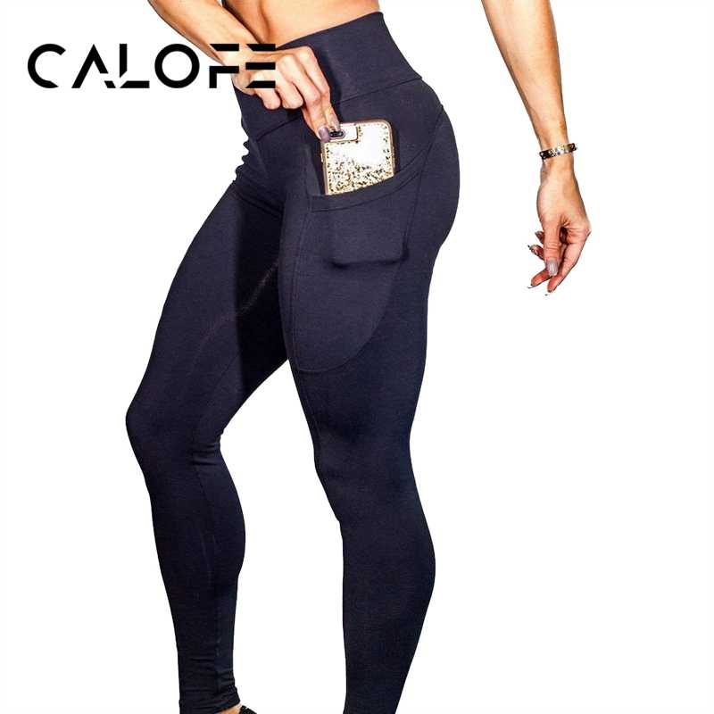 032409183d0343 Detail Feedback Questions about CALOFE Women's Yoga Pants Running Sport  Yoga Pant Workout Fitness Slim Leggings One Side Phone Pocket High Waist  Sport ...