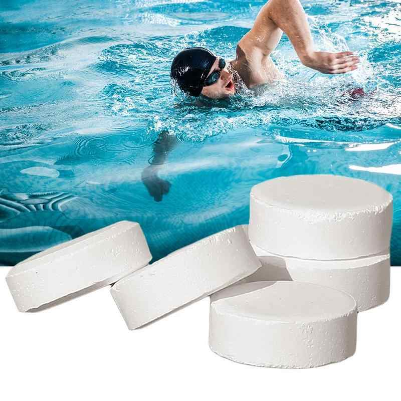 5 Pcs/box Pool Cleaning Effervescent Chlorine Tablets Cage Disinfectant  Swimming Pool Clarifier