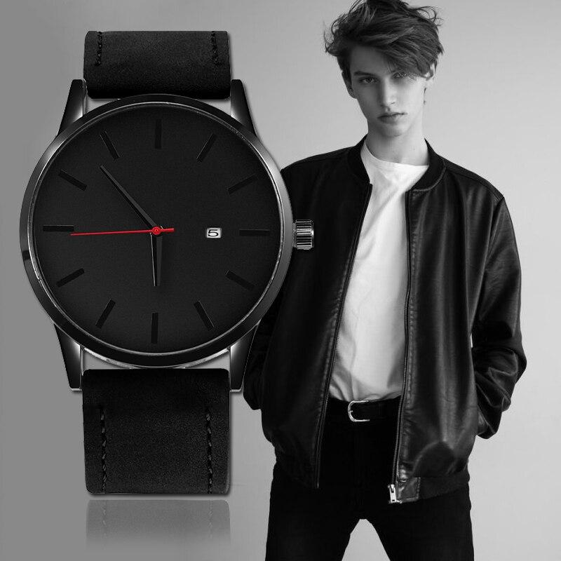 2019 Top Brand Luxury Men's Watch Fashion Watch For Men NEW Watch Men Sport Watches Leather Casual Reloj Hombre Saati