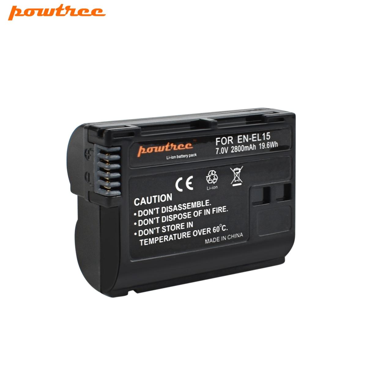 1 Pack EN-EL15 ENEL15 EN EL15 Camera Battery for Nikon D500,D600,D610,D750,D7000,D7100,D7200,D800,D850,D810AA&1 L40 цена