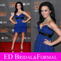 Demi Lovato Dress 2010 Peoples Choice Awards Red Carpet azul real de la gasa de la celebridad cóctel corto vestido del partido