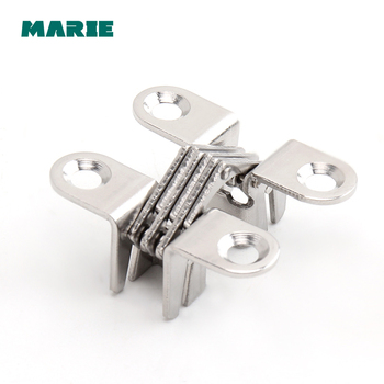 304 Stainless Steel Hidden Hinges Invisible Concealed Cross Door Hinge With Screw For
