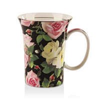 Coffee Cup Holiday Gifts For Lovers Red White Roses And Other Flowers Bone China Tea Set